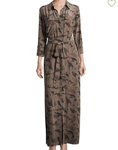 NWOT l'agence silk shirtdress